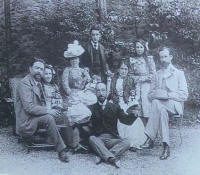 Albéniz with Francis Money-Coutts and other friends