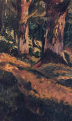 "Riquer: Painting  ""Forest path"" oil painting"